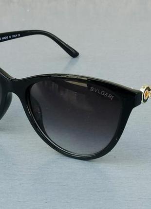 Bvlgari очки женские солнцезащитные черные с градиентом