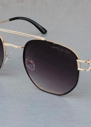 Marc jacobs очки унисекс солнцезащитные линзы серо коричневый градиент в золоте