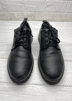 Туфли  чёрные ecco