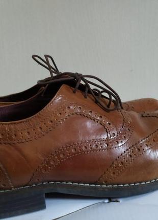 Кожаные туфли броги taylor & wright edition 46 размер по стельке 31,5 см.