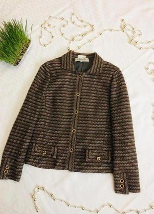 Пиджак блейзер винтажный шерсть