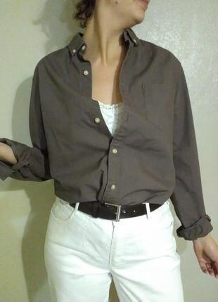 Рубашка блузка блуза оверсайз бойфренда хлопок прямая свободная