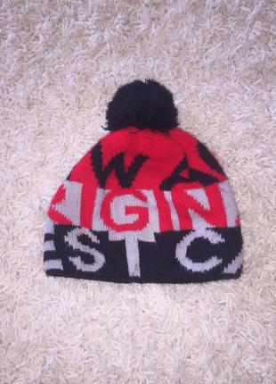 Зимняя шапка ajs размер 52-54см.