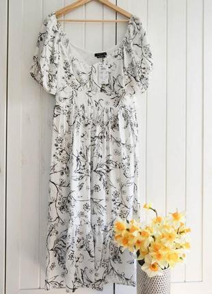 Нежнейшее платье миди от reserved, размер xl
