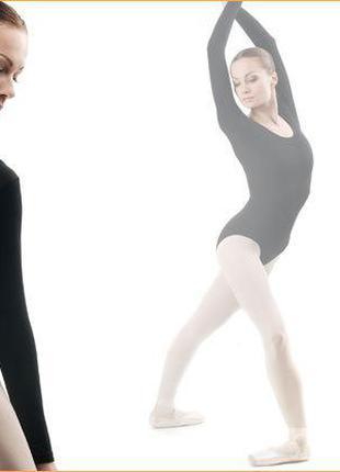 Купальник длинный рукав для гимнастики, танцев, репетиционный