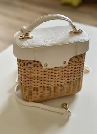 Плетёная сумка3 фото