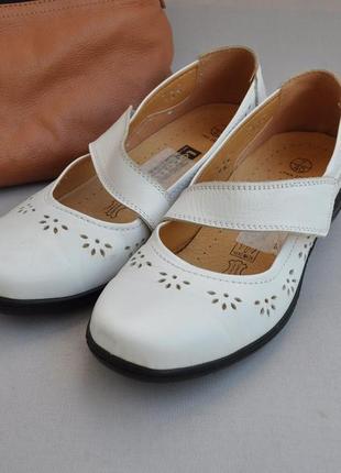 Удобные кожаные летние туфли