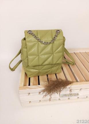 Красивый и стильный рюкзак, цвет оливка