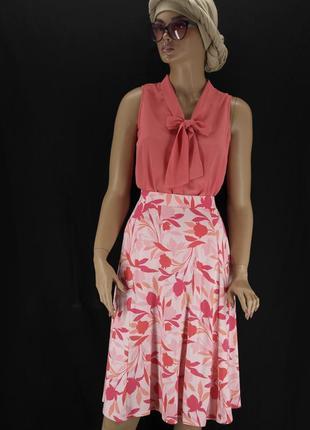 """Красивая вискозная юбка """"marks & spencer"""" с цветочным принтом."""