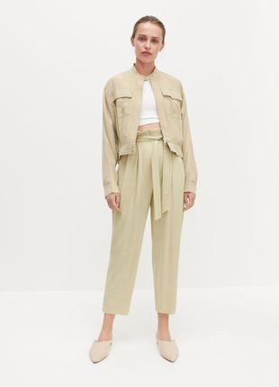 Штани, брюки paperbag з натуральних матеріалів reserved
