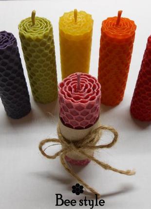 Цветные свечечки из ❣100% натуральной пчелиной вощины🐝