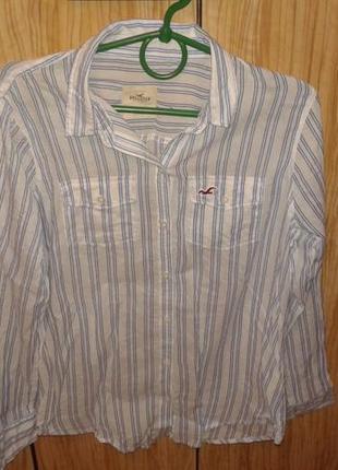 Классная рубашка от hollister,р.м