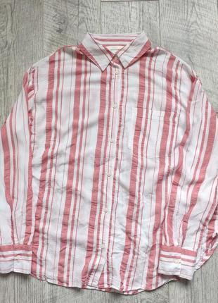 Стильная легкая рубашка полосатая
