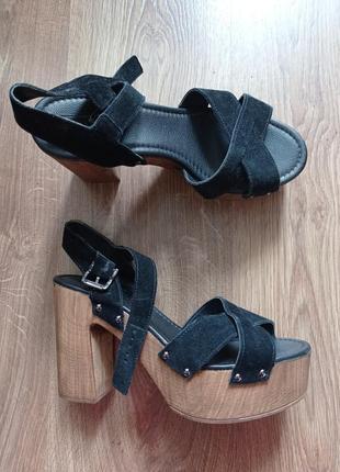 Босоножки сандалии на каблуке topshop