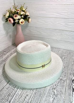 Солнцезащитная летняя шляпа женская белая