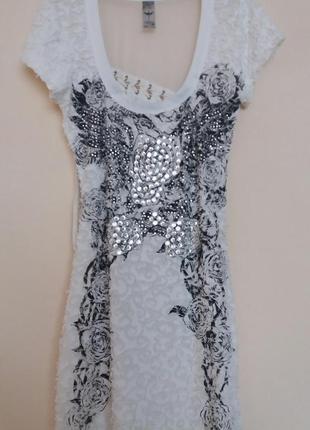 Нарядное платье со стразами zarga
