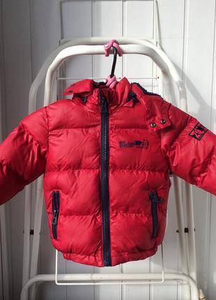 Теплая куртка пуховик (унисекс)