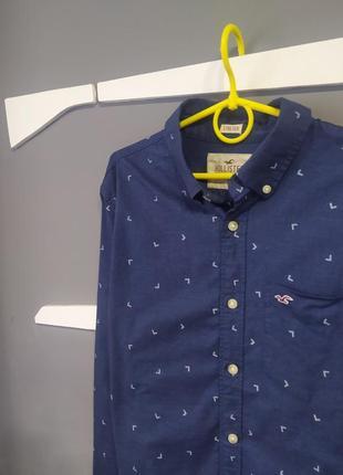 Мужская красивая рубашка hollister с прикольным узором