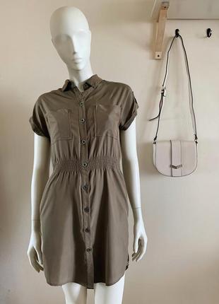 Платье рубашка на пуговицах topshop2 фото
