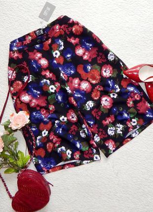 Новые трендовые шорты кюлоты в цветочный принт poppy lux