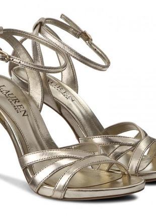Кожаные сандали босоножки на шпильке выпускной ральф лорен ralph lauren оригинал