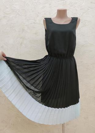 Платье плиссе сарафан
