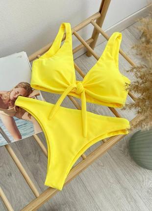 01 желтый раздельный купальник christel