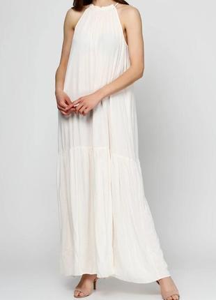 Летнее платье, сарафан h&m из жатой ткани.