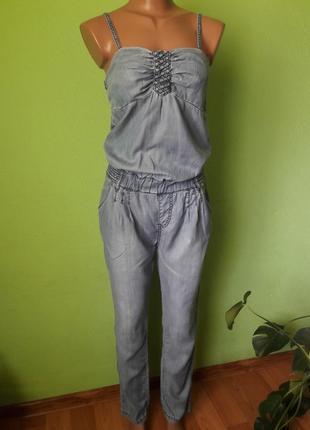Летний легкий джинсовый комбинезон
