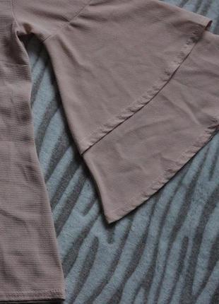 Пудровая блуза.рукава воланы.клеш.3