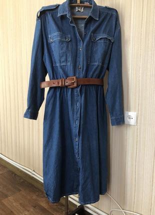 Джинсовое платье для больших девочек