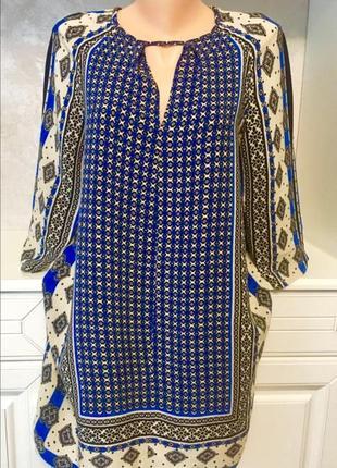Брендовое шелковое платье свободного фасона