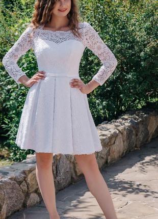 Короткое свадебное платье laura style,  42-46 рр