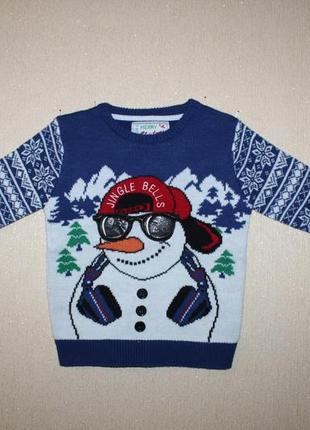 Красивый новогодний свитер rebel для мальчика