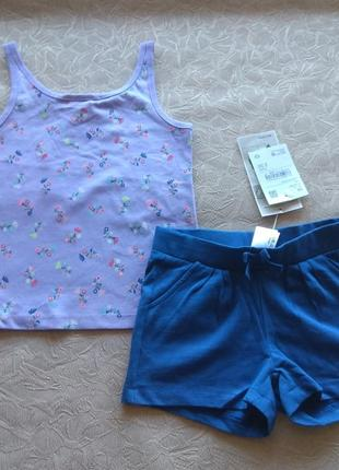 Хб комплект майка + шорты