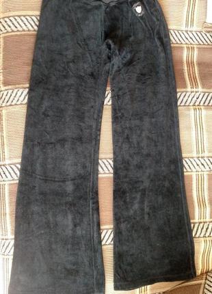 Велюровые штаны для девочки на рост 134-146