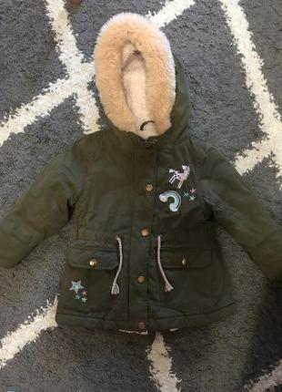 Куртка парка единорог