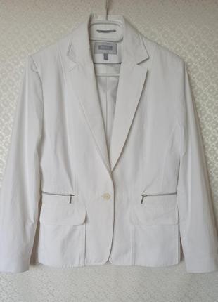 Стильный белый пиджак, жакет _ next _ вискоза _  коттон
