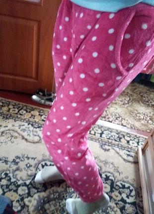 Плюшевые штанишки с манжетами