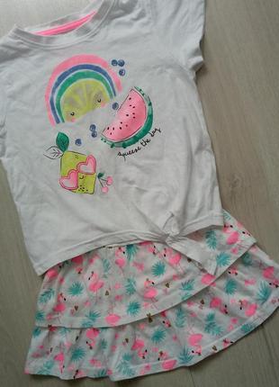 Комплект футболка + юбка