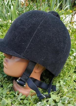 Шлем для верховой езды/конного спорта/жокейка/каска wembley 54 см