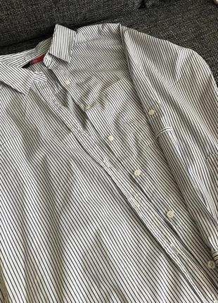 Платье-рубашка в полосочку