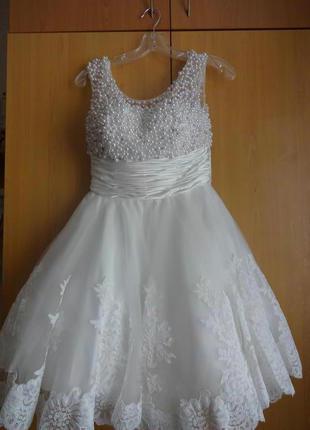 Свадебное платье короткое sherri hill модель 4302