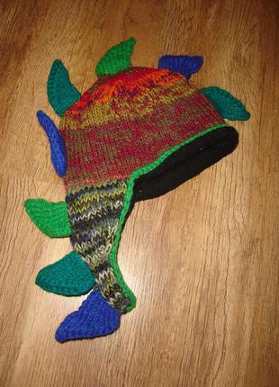 Крутая теплая шапка на ог 53-56 см состояние новой