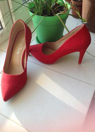 Ccc красные туфли  под платье jenny fairy