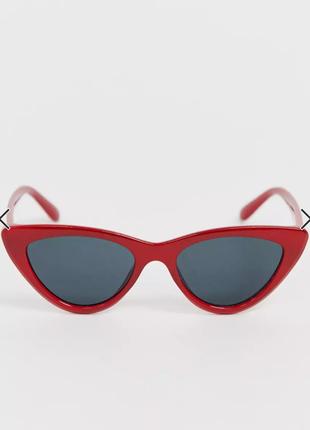 Красные очки asos (ретро, винтаж, cat eye)
