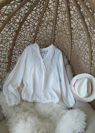 Обмен блуза вышиванка bershka хлопковая рубашка