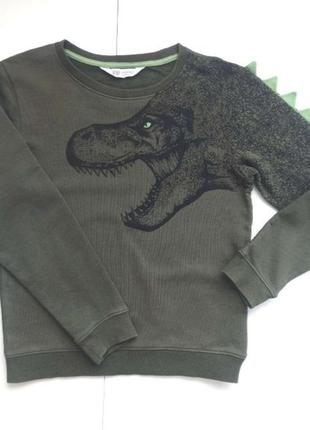 Крутейший топ свитшот свитер реглан с динозавром h&m 8-10 лет