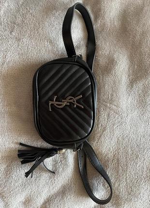 Женская сумка на пояс ysl