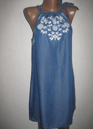 Платье из лиоцелла с вышивкой monsoon р-рs